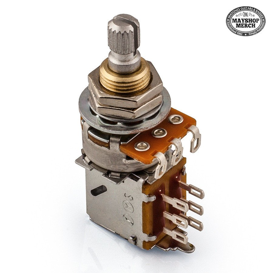 Potentiometer middle push pull 50k ohm with center click for potentiometer middle push pull 50k ohm with center click for bass preamps sciox Images